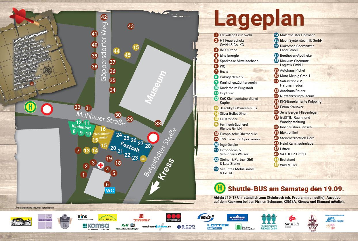 Lageplan - Innenausbau Jensch/Media Lounge Jensch